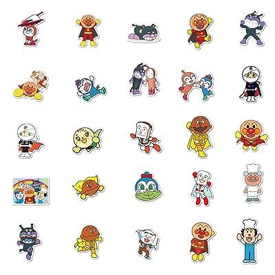 Cartoon Anpanman Stickers Skateboard Vinyl Decals Laptop Phone Car Sticker 50Pcs