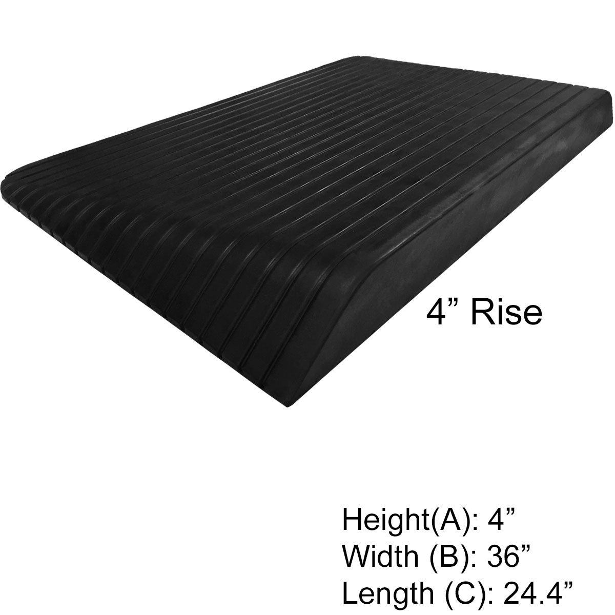4'' Rise Rubber Power Wheelchair Scooter Threshold Ramp