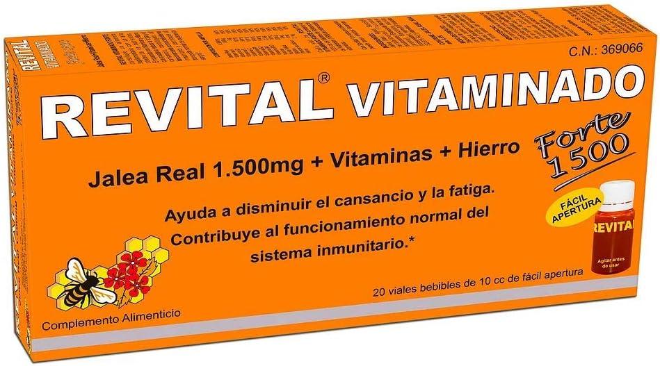 Revital Vitaminado Forte - Fórmula con 1.500 mg de Jalea Real y Vitaminas - 20 Viales