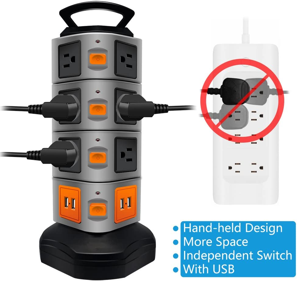 power strip with long card