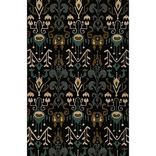Momeni Rugs HABITHB-02BLK2030 Habitat Collection, 100% Wool Hand Tufted Transitional Area Rug, 2' x 3', Black