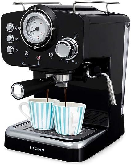 Macchina del caffè express ikohs thera retro per caffè espresso e cappuccino, 1100 w, 15 bar B07PFQM7SK