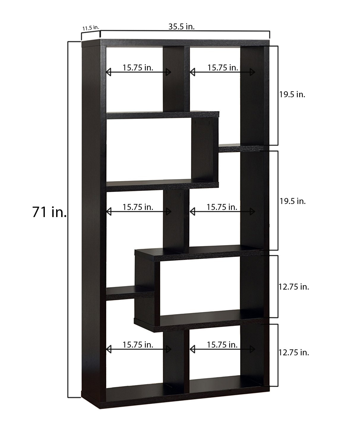 Backless Bookshelves Amazon.com: Iohomes Modern Backless Display Stand-bookcase, Black: Kitchen  U0026 Dining