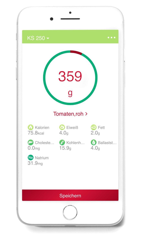 Medisana KS 250 Digitale Küchenwaage, Edelstahl, Bluetooth ...