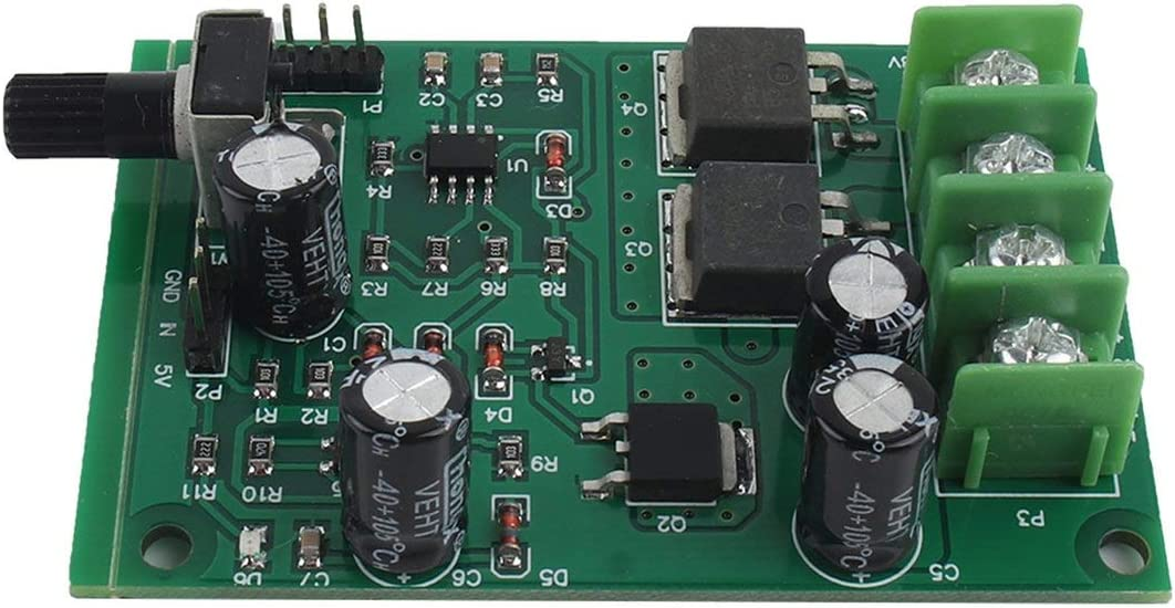 Sunnyflowk Professional F/ácil de instalar 5v-12v Dc Motor sin escobillas Controlador de la placa del controlador Motor de la unidad de disco duro Accesorios de 3//4 hilos verde