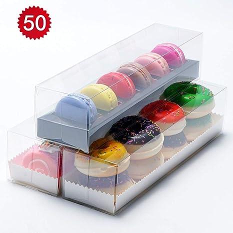 Amazon 50pcs Luxury Clear Bakery Cake Macaron Gift Box For