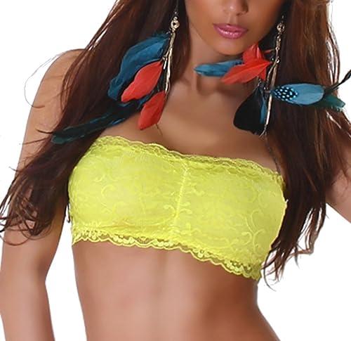 Donne Bustino a fascia Top guscio lingerie di pizzo top senza tubo di pancia top push-up