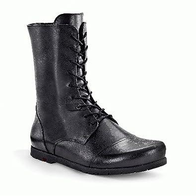 Birkenstock Stiefel x aus echt Leder in schwarz mit schmalem Fussbett
