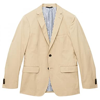 84ecb5672ef68 GANT Cotton Twill 2 Button Mens Blazer 50 Dry Sand: Amazon.co.uk ...