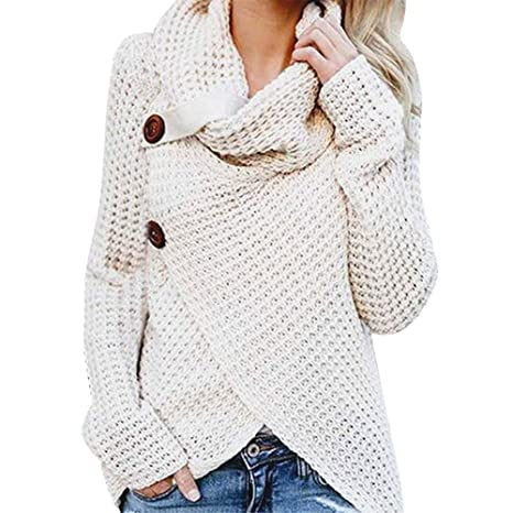 b430c28b73327 Buy VonVonCo Pullover Sweaters for Women, Women Long Sleeve Solid ...