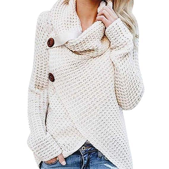 Maglione Donna Elegante Maglioni Slim per Natale autunno invernale ... 9a135389fd5