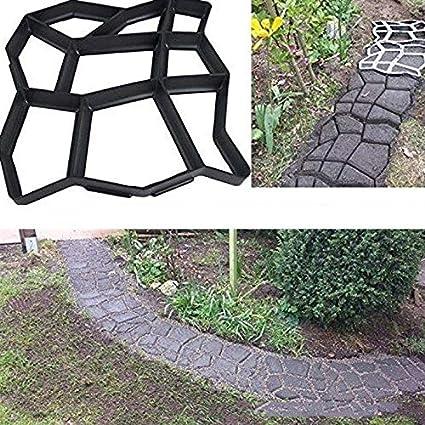 Teekit Fabricante de la Ruta del Piso Molde de concreto Molde Reutilizable de Bricolaje Duradero para césped de jardín: Amazon.es: Hogar