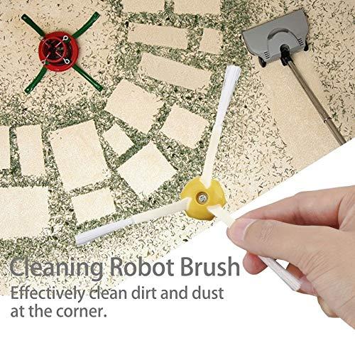 Blanco y Amarillo Libertroy 12 Piezas de Limpieza de vac/ío Robot Cepillo de Repuesto para iRobot Roomba 500//600//700 Serie Pr/áctica Accesorios para aspiradoras