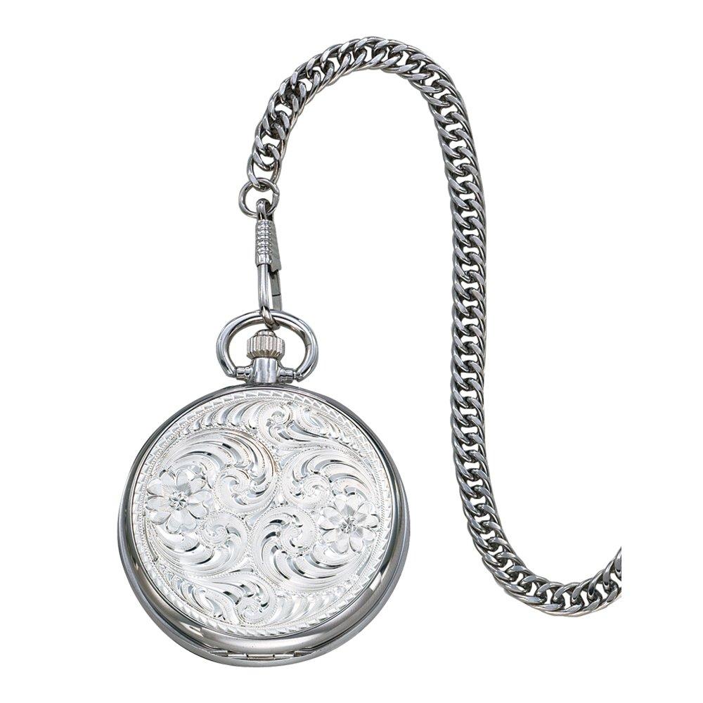Montana Silversmiths WCHP39 Montana Time Analog Display Quartz Pocket Watch