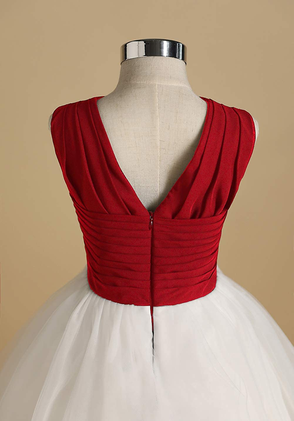Chiffon Wedding Party Pageant Dresses for Girls Gdoker Tulle Flower Girl Dress Long Junior Bridesmaid Dress A-Line