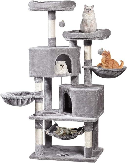 MQFORU Árbol Rascador para Gatos Varios Niveles, Torre de Escalada ...