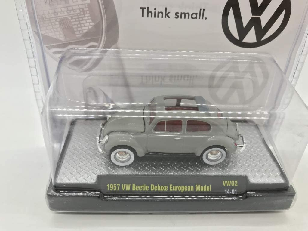 M2 Machines by M2 Collectible Auto-Thentics 1957 VW Beetle Deluxe European Model VW02 14-01 Metallic Gray Details Like NO Other!