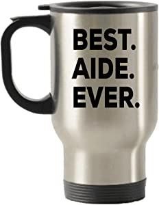 Best Aide Ever Travel Mug - Gift For Teachers Nurses Aide Hospice Bus Home Health Certified Driver Aid - Present Gift Idea