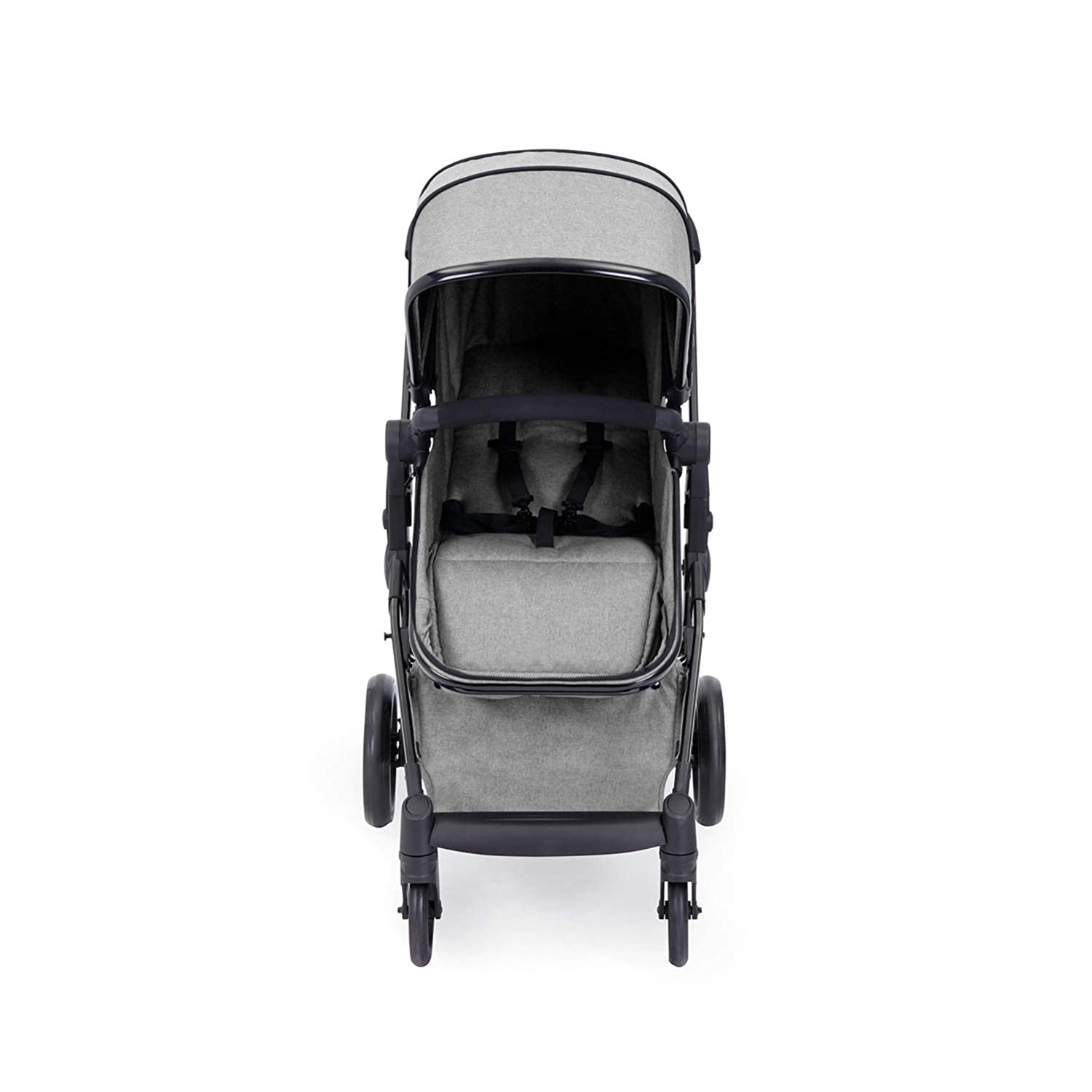 Silver Grey Includes Rear and Forward-Facing Pushchair Interchangeable Hood Foot Warmer Moon 2-in-1 Ickle Bubba Stroller and Carrycot