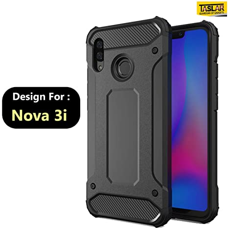 buy popular 1b27d 3fc58 Taslar Dual Hybrid Armor Back Cover Case for for Huawei Nova 3i (Black)