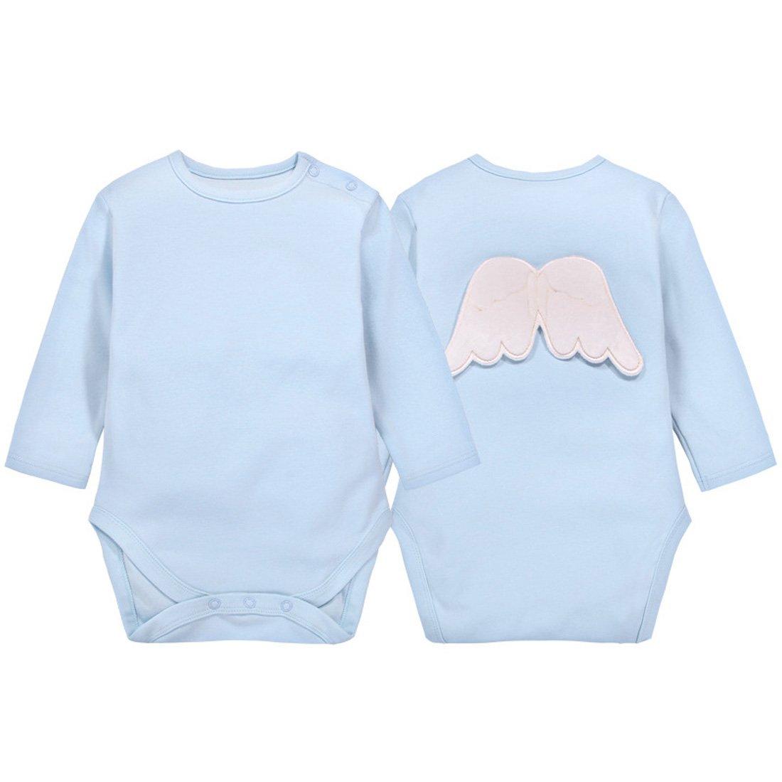 Non Fluorescente Casa Body da Neonato Bimbi in Cotone per Unisex Infantile Onesie Pagliaccetto Manica Lunga con Ali da 0 a 24 Mesi