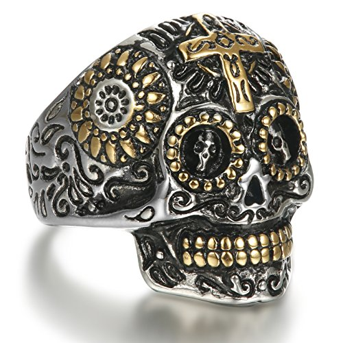 Stainless Steel Rings Vintage Skull rings Fashion Jewelry for men - 6