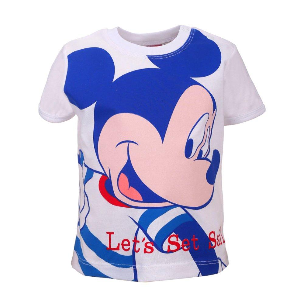 Disney Ragazzi Mickey Mouse, Topolino Maglietta, T-Shirt, Bianco