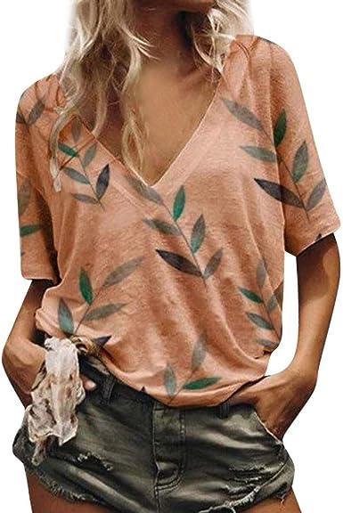 Talla Grande Camisa Moda para Mujer Verano, Blusa de Floral ...