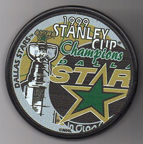 Dallas Stars 1999 Stanley Cup Champions Official NHL Puck + FREE Puck Cube by Archrival Autographs