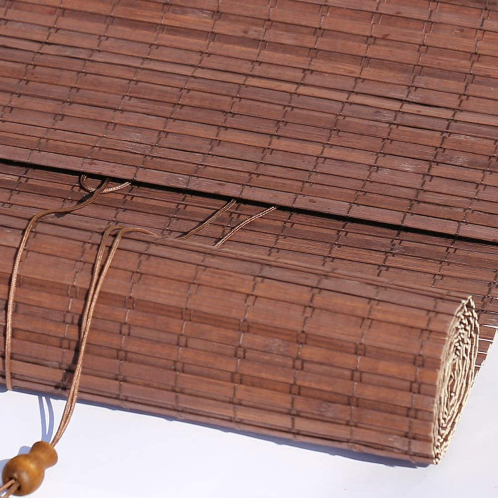 Persiana de bambú Patio Exterior/Toldo/Pérgola/Persiana Exterior Enrollable/Persianas con Accesorios, Fácil De Instalar, 85cm / 105cm / 125cm / 145cm De Ancho, Marrón Oscuro: Amazon.es: Hogar