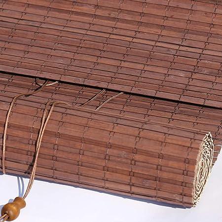 Persiana de bambú Patio Exterior/Toldo/Pérgola/Persiana Exterior Enrollable/ Persianas con Accesorios, Fácil De Instalar, 85cm / 105cm / 125cm / 145cm De Ancho, Marrón Oscuro: Amazon.es: Hogar