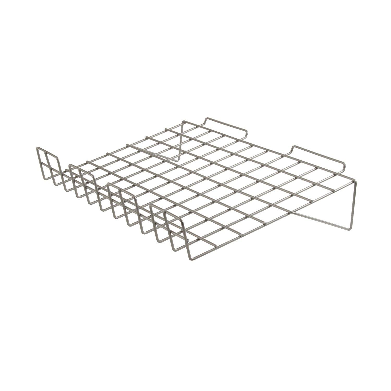 14 Depth x 22-1//2 Length Econoco BLK//SL22 Sloping Shelf with 3 Lip Black Pack of 6