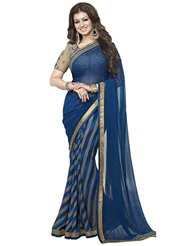 Details about  /Indian Women/'s Georgette Saree Blouse Traditional Ethnic Festive Party Wear Sari
