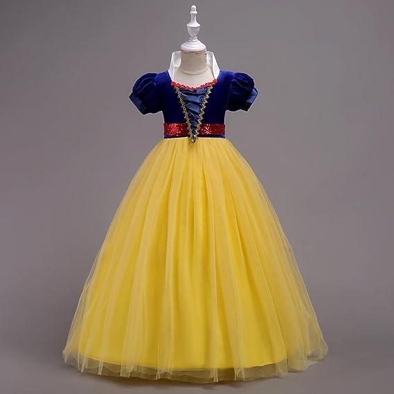Vestidos Niña Princesa Disfraz Traje Parte Blancanieves Para Boda Largo Gala De Ceremonia Fiesta Elegantes Comunión Paseo Baile Pageant Damas De Honor