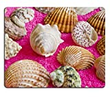 MSD Natural Rubber Mousepad Photo of lot seashells on color towel IMAGE 30942366