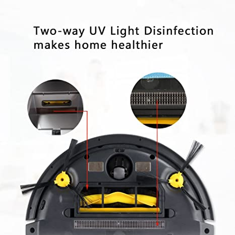 Amazon.com: Liectroux B6009 Robot Vacuum Cleaner with Map Navigation, Memory, Voice Prompt, Adjustable Suction Mode, Twining -Proof Brush, 2 Way UV Light,3D ...