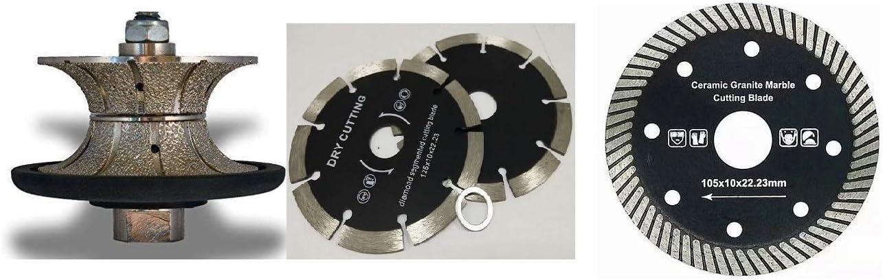 """Diamond Router Bit V-25mm 1/"""" Full Bullnose Granite Concrete Marble Travertine"""