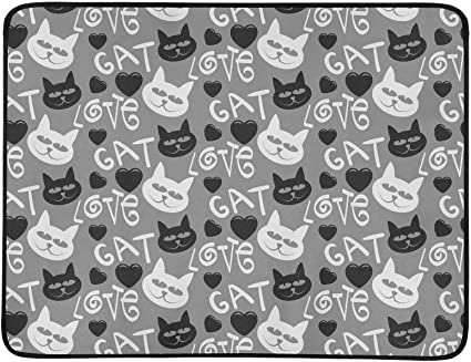 Amazon Com Yswpna Cat Cute Cat Cat Wallpaper Cat Drawing Cat Tattoo Pattern Portable And Foldable Blanket Mat 60x78 Inch Handy Mat For Camping Picnic Beach Indoor Outdoor Travel Sports