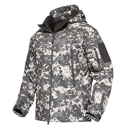MAGCOMSEN Men's Tactical Militray Hunting Special Ops Jacket Camping Combat Coat ACU (Camouflage Thermal)