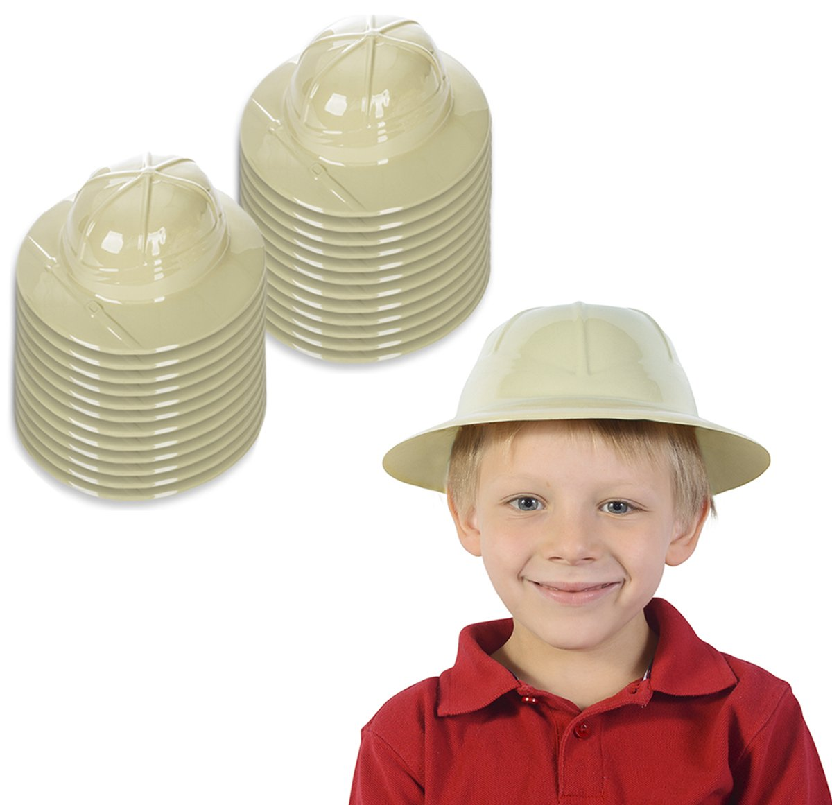 Funny Party Hats Safari Hat Party Favor - Jungle Party Supplies - Pith Helmets for Kids - Safari Party Supplies (24 Pack) by Funny Party Hats