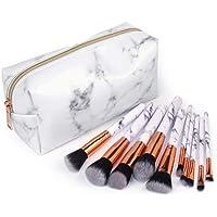 Luorata Professional Makeup Brushes Multi Functional Cosmetic Bag Set