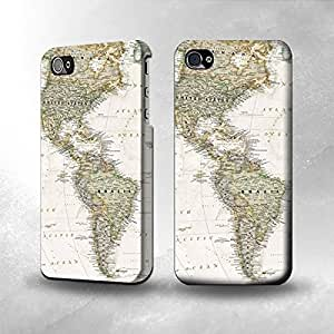 Apple iPhone 4 / 4S Case - The Best 3D Full Wrap iPhone Case - World Map