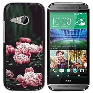 Caucho caso de Shell duro de la cubierta de accesorios de protección BY RAYDREAMMM - HTC ONE MINI 2 / M8 MINI - Pink Flowers Garden Blossoming