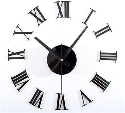 Amazon Com 3d Large Clock Hmane Acrylic Mirror Roman