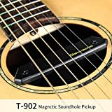 SKYSONIC T-902 Magnetic Soundhole Pickup Guitar Active Dual Systems Pickup Acoustic Guitar