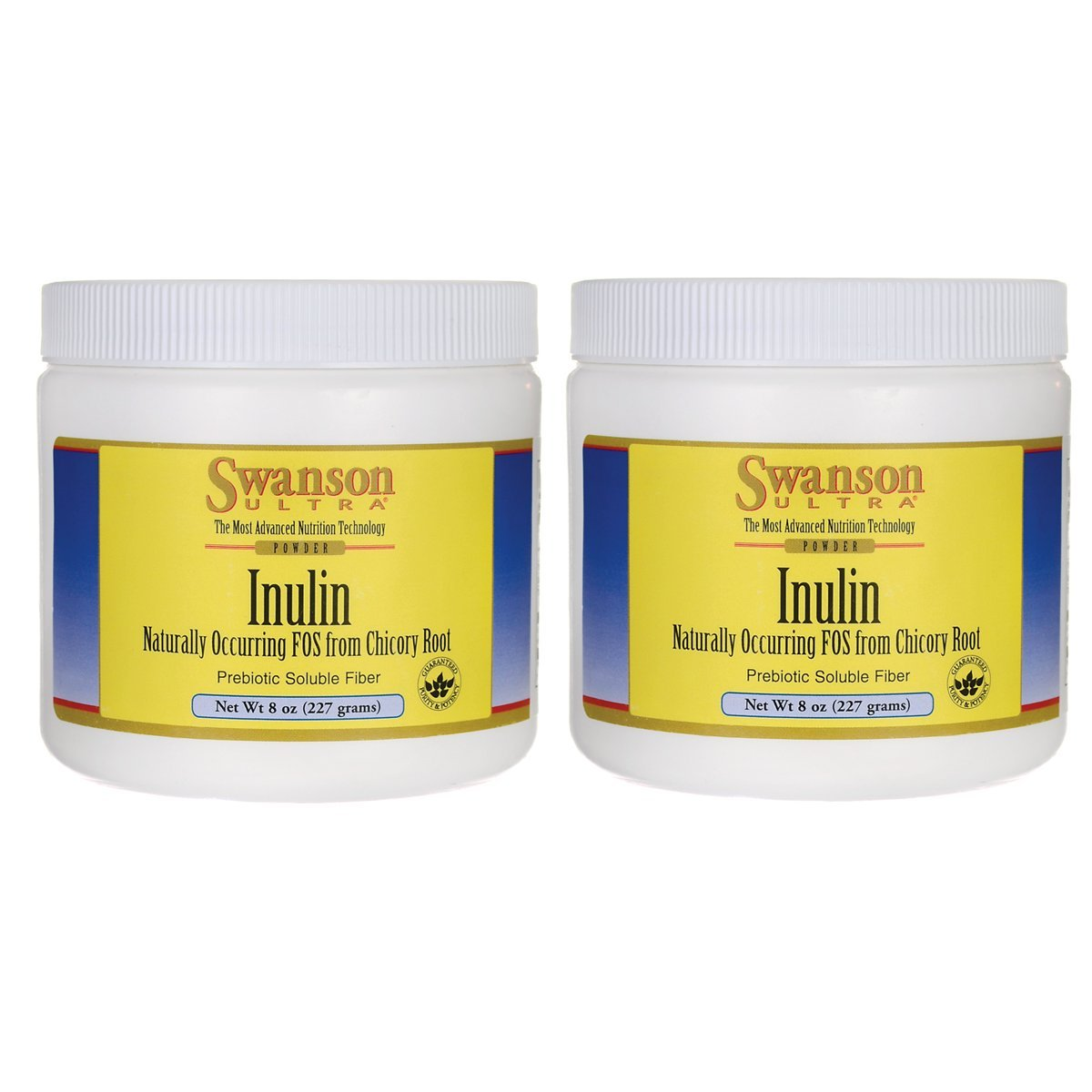 Swanson Inulin Powder 8 Ounce (227 g) Pwdr 2 Pack