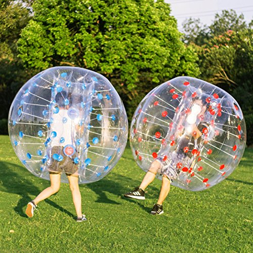 Happybuy Inflatable Bumper Ball 2pcs 5ft Diameter Bubble Soccer Ball Blow Up Toy in 5 Min Inflatable Bumper Bubble Balls for Adults or Child