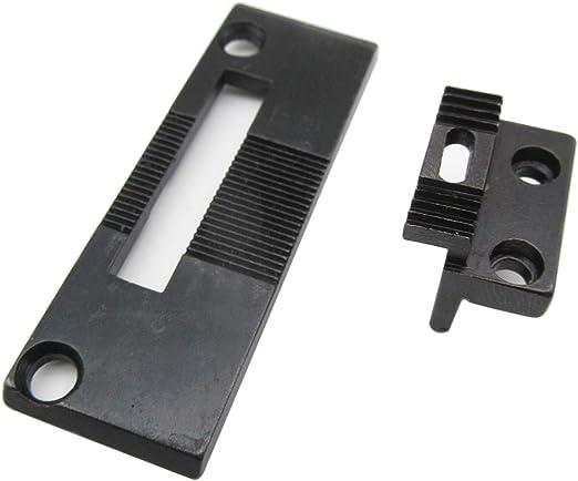 KUNPENG - # 240144 + 264510 PLACA DE AGUJA y máquina de coser diente en forma de ajuste para Singer 111G 111W 211G ...