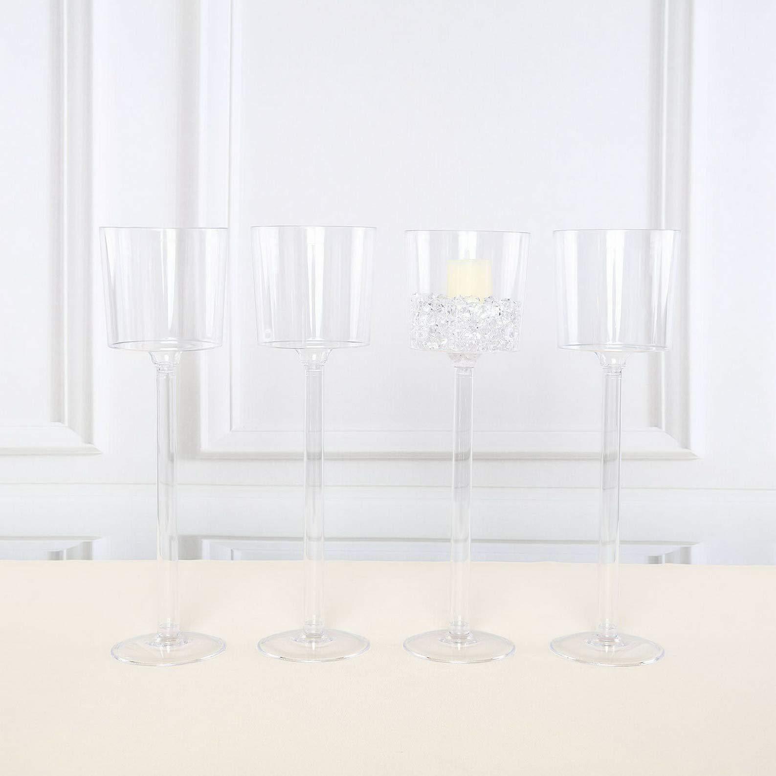 Mikash Clear Plastic VASES Cups 18 Wedding Party Centerpieces Decorations Supplies | Model WDDNGDCRTN - 2707 | 16 pcs