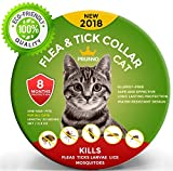 #7: NEW 2018 Flea Collar For Cats 8 Months Protection Vet Recommended Hypoallergenic Waterproof  - Adjustable Flea and Tick Prevention for Cats - Natural Prevention From Fleas Ticks Larvae Treatment